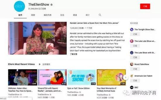 举个例子,拿了59座艾美奖的The Ellen Show