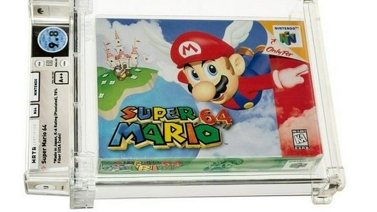 超级马里奥64游戏卡带以超150万美元价格售出打破拍卖纪录